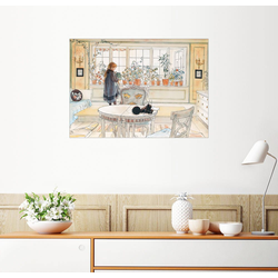 Posterlounge Wandbild, Blumen auf der Fensterbank 90 cm x 70 cm