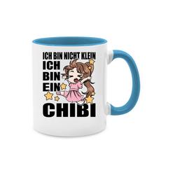 Shirtracer Tasse ich bin nicht klein ich bin ein Chibi - schwarz - Anime - Tasse zweifarbig - Tassen, tasse kaffee anime