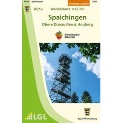Spaichingen - Obere Donau (West) Heuberg. Wanderkarte 1:25.000