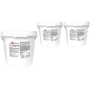 well2wellness Chlor L Tabletten 200g - langsam lösliche Chlortabletten a 200g mit 90% Aktivchlor, 15 kg (3 x 5 kg)
