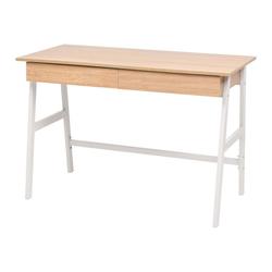 vidaXL Schreibtisch vidaXL Schreibtisch 110×55×75 cm Eichenbraun und Weiß