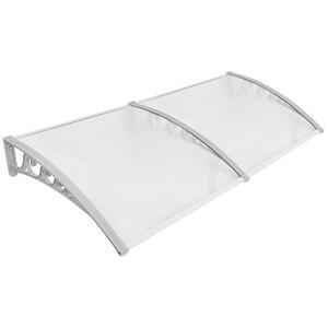 MUPAI Vordach Haustür, Kunststoff, Aluminium, Pultbogenvordach, Überdachung, Transparent, Fenster Markisen (100x300CM)