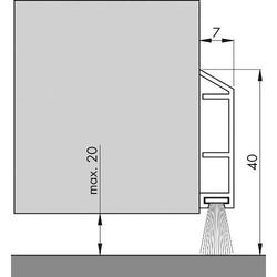 PDS-B-Türbodendichtung Nr.0702291 braun 100cm