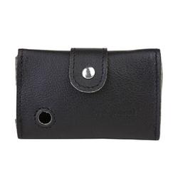 Ledertasche für Dexcom-Lesegerät G6 schwarz mit Clip