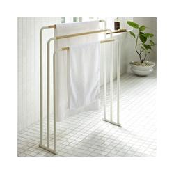Yamazaki Handtuchständer Plain, Handtuchhalter Bad, freistehend weiß