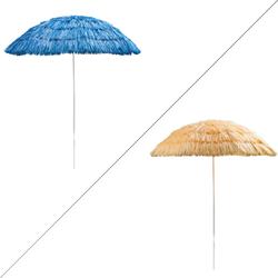 Hawaii Strandschirm Sonnenschirm 160 cm UV30 blau oder natur, Farbe: blau (918587-41270)