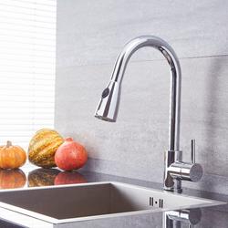 Küchenarmatur mit ausziehbarer Spülbrause – Chrom – Como, von Hudson Reed