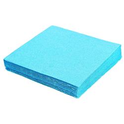 Servietten 33 x 33 cm 1/4 -Falz, 2-lagig hellblau,  50 Stk.