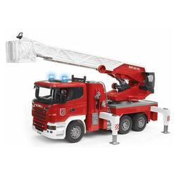 Bruder® Spielzeug-Feuerwehr Scania R-Serie - Feuerwehrleiterwagen mit Wasserpumpe - rot/weiß