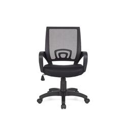 Amstyle Drehstuhl SPM1.075, Bürostuhl RIVOLI Schwarz Schreibtischstuhl mit Armlehne Bürodrehstuhl Jugendstuhl