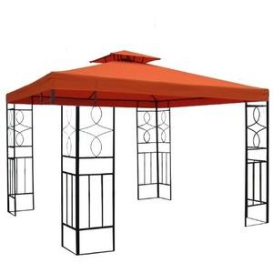 habeig WASSERDICHTER Pavillon Romantika 3x3m Metall inkl. Dach Festzelt wasserfest Partyzelt (Terrakotta)