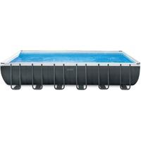 Intex 26364 Aufstellpool Gerahmter Pool Rechteckig 31805 l Schwarz