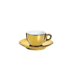 Cilio Espressotasse Espressotasse ROMA, Porzellan goldfarben