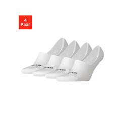 Head Füßlinge, (4 Paar), mit hohem Spann weiß Damen Füßlinge