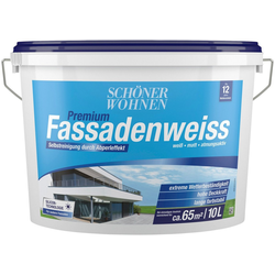 SCHÖNER WOHNEN-Kollektion Fassadenfarbe Premium-Fassadenweiss 10 l, höchst wetterbeständig und strapazierfähig, Silikonharzbasis