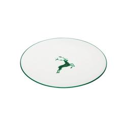Gmundner Keramik Speiseteller Speiseteller Cup Hirsch grün