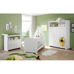 Babyzimmer-Komplettset Trend, (Set, 3-St), Bett + Wickelkommode + 3 trg. Schrank
