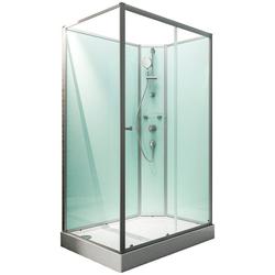 SCHULTE Komplett-Set: Komplettdusche Ibiza, BxT: 160 x 90 cm silberfarben