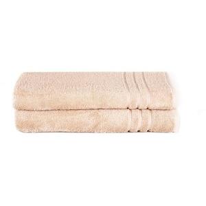 Komfortec Saunatuch Saunatücher in den Maßen 70x200 cm oder 80x200 cm goldfarben 70 cm x 200 cm