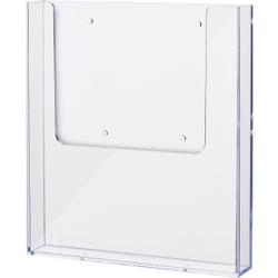 helit the helpwall Wandprospekthalter, Transparenter Prospekthalter für die Wand, 1 x DIN A4 (hoch)