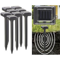 4er-Set Umweltfreundlicher Solar-Maulwurffrei mit Akku, 400 Hz, IP44