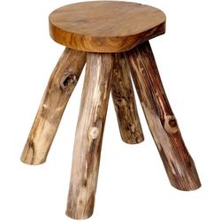 Brillibrum Hocker Teakholz Hocker - Holzhocker Gartenstuhl Schemel aus Teak Badhocker aus massiv Holz Sitzhocker 45 x 27 x 24 cm (H x B x T)