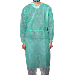 MaiMed® - Coat Protect Schutzkittel, Feuchtigkeitsabweisender Kittel mit elastischen Ärmelabschluss, 1 Packung = 10 Stück