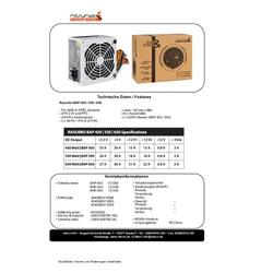 Rasurbo BAP-450 PC Netzteil 450W ATX