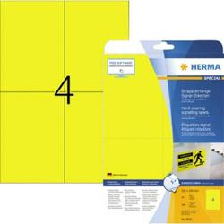 Herma 8032 Etiketten (A4) 105 x 148mm Gelb 100 St. Extra stark haftend Folien-Etiketten