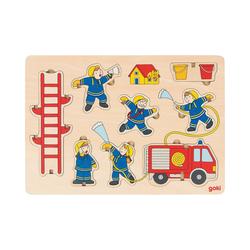 goki Steckpuzzle Aufstellpuzzle Feuerwehr, Puzzleteile