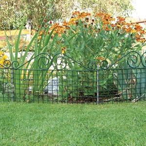 bellissa Rabattenzaun Ambiente Verzierung - 7517 - Dekorativer Zierzaun für Abgrenzungen im Garten - 76 x 44 cm - grün - 5er Set
