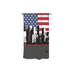 dynamic24 Duschvorhang Breite 180 cm, Textil Motiv Badewannenvorhang 180x200 New York Wannenvorhang Dusche Vorhang