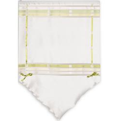 Scheibengardine Scheibengardine Fensterspitze Küchengardine 2215 60x90 cm 90x90 cm Weiß Grün Blickdicht, EXPERIENCE, Stangendurchzug (1 Stück), passend zu 2216 60 cm x 90 cm