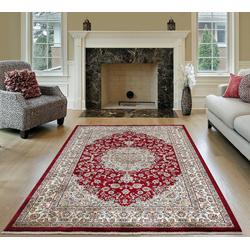 Orientteppich SHIRAZ 2156A, TEPPIA, rechteckig, Höhe 8 mm rot 240 cm x 340 cm x 8 mm