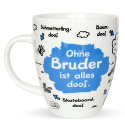 """Sheepworld Tasse Sheepworld - Tasse """"Ohne ... ist alles doof"""" 0,5l ODIAD Geschenk Kaffee- Tasse Motiv: Bruder"""