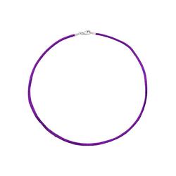 JOBO Kette ohne Anhänger, Seidenkette lila 42 cm 2,8 mm