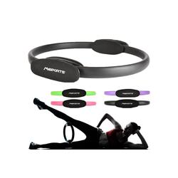 MSports® Pilates-Ring MSPORTS Pilates Ring Premium I Widerstandsring - Doppelgriff Pilates Yoga Ring 38 cm Übungskreis schwarz