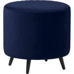 Velours Hocker Otis blau Sitzhocker Polsterhocker Sitzbank Sitzwürfel Fußhocker