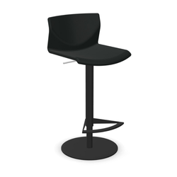 lapalma KAI Barhocker Sitzschale aus Leder schwarz