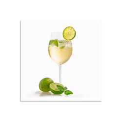 Artland Wandbild Weinglas - Hugo, Getränke (1 Stück) 50 cm x 50 cm