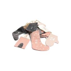 Hotex Wandkalender Adventskalender Girlande rosa