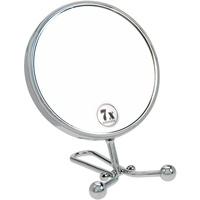 Fantasia Hand- und Stellspiegel Metall, Silber, Vergrößerung 7-fach, Ø 15 cm, Länge: 29 cm