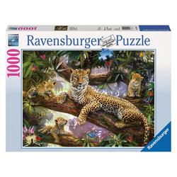 Ravensburger Puzzle Stolze Leopardenmutter, 1000 Puzzleteile bunt
