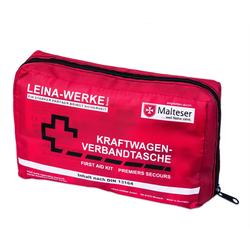Leina Arzttasche KFZ Verbandtasche Verbandskasten für Auto PKW Erste Hilfe Set DIN 13164 rot