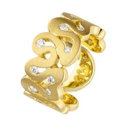 JOBO Diamantring, 585 Gold mit 10 Diamanten 58