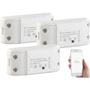 3er-Set WLAN-Schalter für Licht & Co., für Alexa & Google Assistant