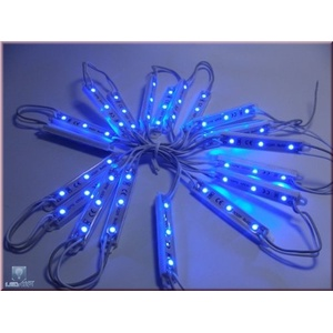 1x LED Modul mit 3 SMD LEDs Wasserdicht IP65 blau 12V DC