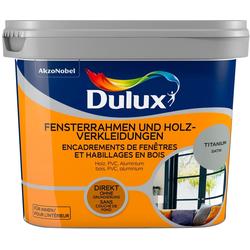 Dulux Holzlack Fresh Up, für Fensterrahmen und Holzverkleidungen, titanium, 0,75 l