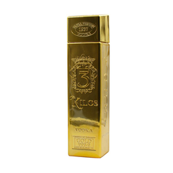 3 Kilos Gold 999,9 Premium Vodka 1,0L (40% Vol.)