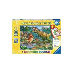 Ravensburger Puzzle 2-tlg. Puzzle & Malbuch Set, 100 Teile XXL, 49x36, Puzzleteile